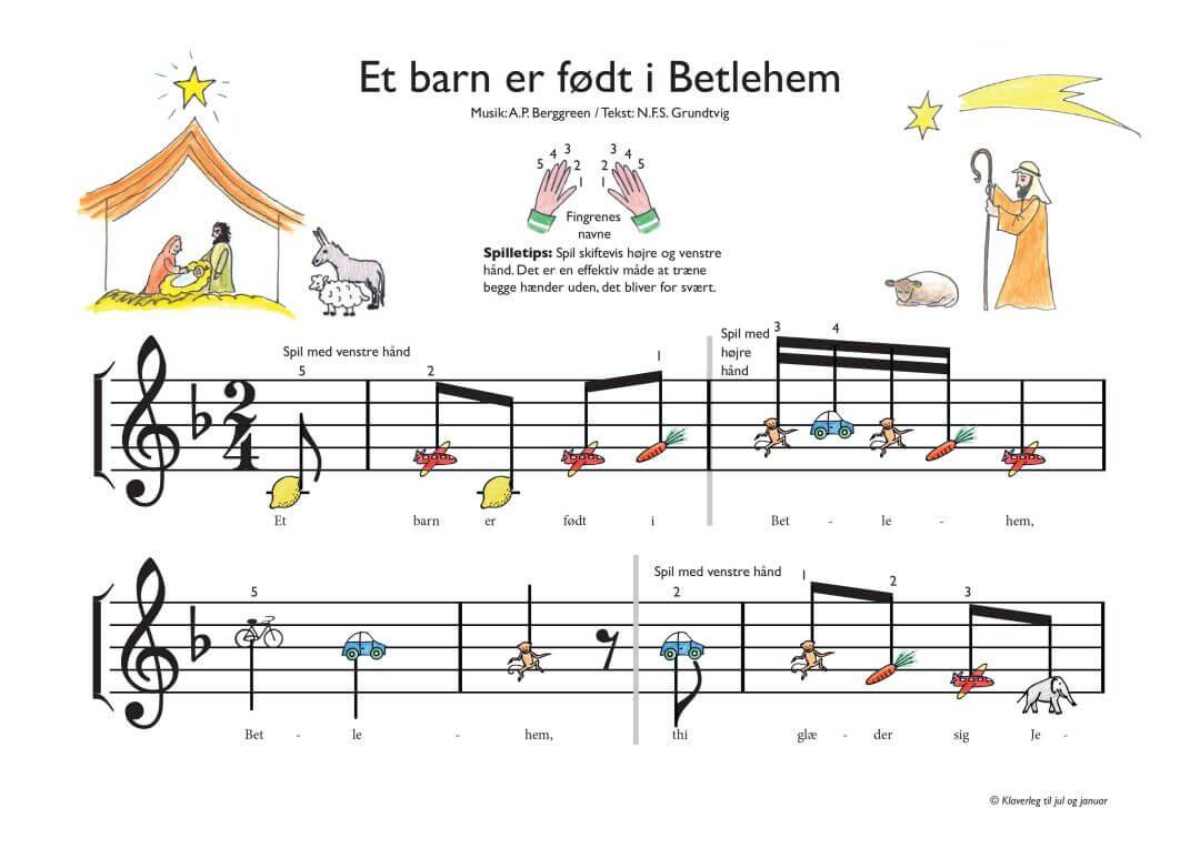 Et barn er foedt i Betlehem