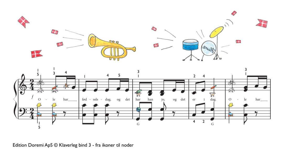 Fødselsdagssang med instrumenter