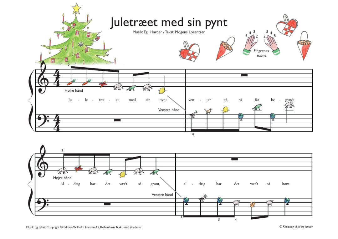 Juletraeet med sin pynt